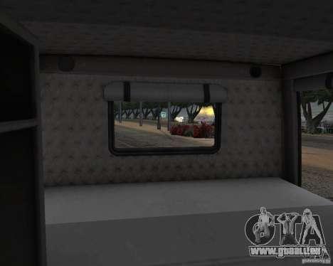 Western Star 4900 EX pour GTA San Andreas vue intérieure