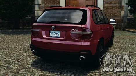 BMW X5 xDrive30i für GTA 4 hinten links Ansicht