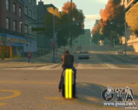 Moto du trône (néon jaune) pour GTA 4 Vue arrière de la gauche