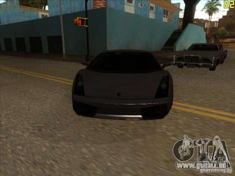 Lamborghini Gallardo Superleggera 2006 pour GTA San Andreas laissé vue