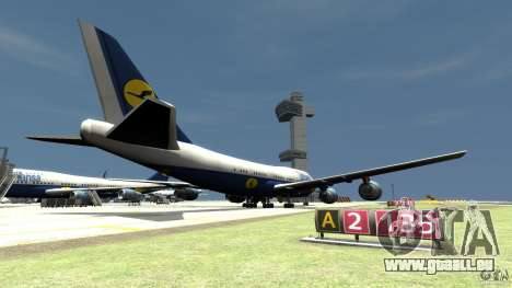 Lufthansa Airplanes pour GTA 4 Vue arrière de la gauche