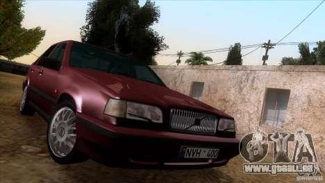 Volvo 850 Final Version für GTA San Andreas Innenansicht