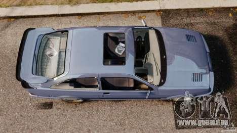 Ford Sierra RS500 Cosworth 1987 pour GTA 4 est un droit