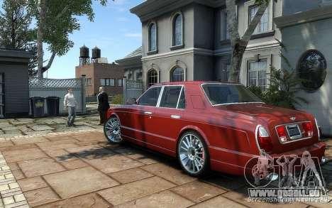 Bentley Arnage T pour GTA 4 Vue arrière de la gauche