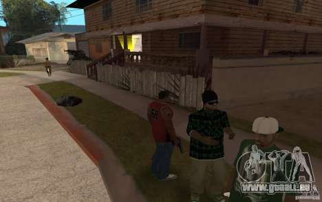 Grove Street Skin Pack für GTA San Andreas fünften Screenshot