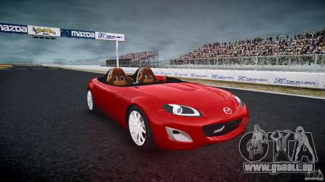 Mazda Miata MX5 Superlight 2009 für GTA 4 Rückansicht