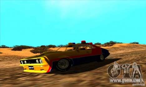 Ford Falcon 351 GT Interceptor Mad Max pour GTA San Andreas vue de droite