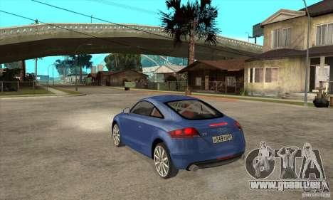 Audi TT 2007 für GTA San Andreas rechten Ansicht