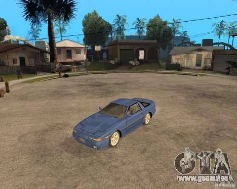 Toyota Supra MK3 pour GTA San Andreas sur la vue arrière gauche