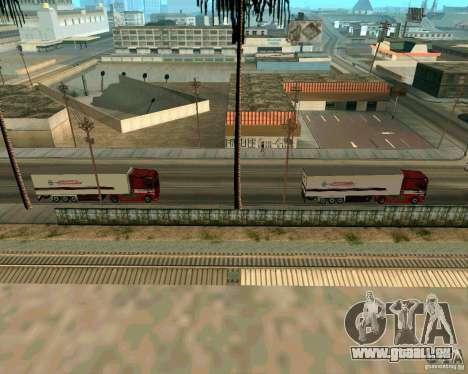 Scania TopLine für GTA San Andreas zurück linke Ansicht