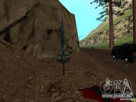 Frostmorn-épée de WoW Lich King pour GTA San Andreas troisième écran