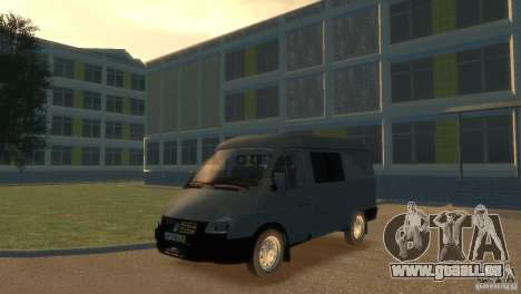 GAZ 2752 Sobol pour GTA 4 Vue arrière de la gauche