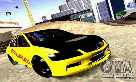 Mitsubishi Lancer Evolution VIII - ProSpeed pour GTA San Andreas