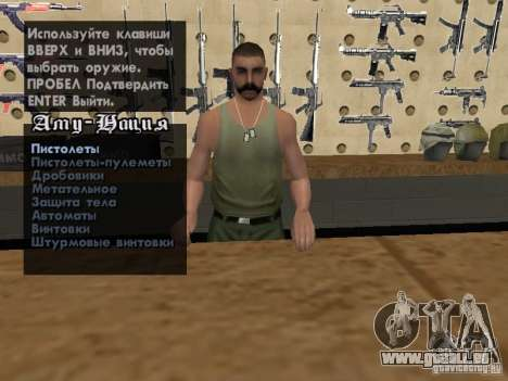 Russian Ammu-nation für GTA San Andreas siebten Screenshot