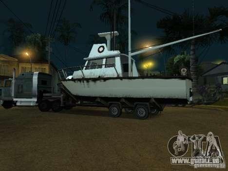 Remorque bateaux pour GTA San Andreas sur la vue arrière gauche