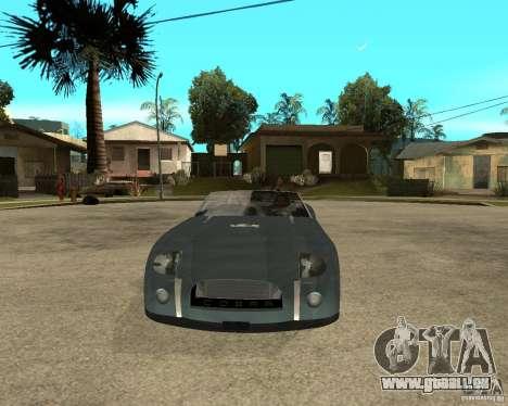 Ford Cobra Concept für GTA San Andreas Rückansicht