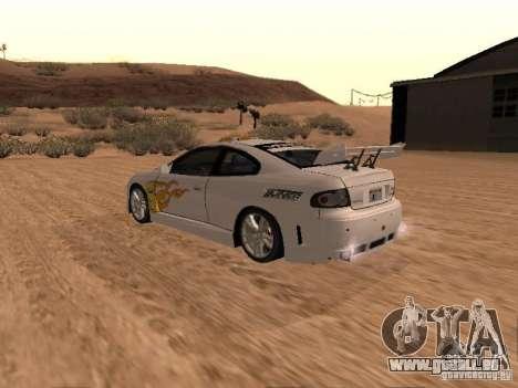 Vauxhall Monaro pour GTA San Andreas moteur