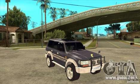 Toyota Land Cruiser 80 für GTA San Andreas Rückansicht