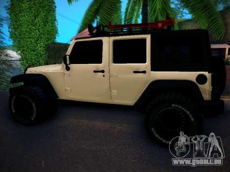 Jeep Wrangler 4x4 pour GTA San Andreas laissé vue