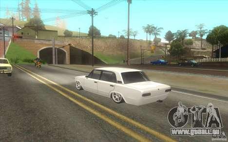VAZ 2101 Auto Tuning für GTA San Andreas zurück linke Ansicht