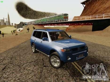 Mitsubishi Montero für GTA San Andreas Rückansicht