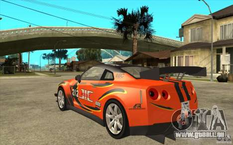 Nissan GT R Shift 2 Edition für GTA San Andreas rechten Ansicht
