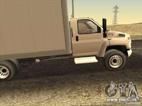 GMC 5500 2001 pour GTA San Andreas laissé vue