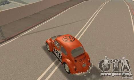 Volkswagen Beetle 1963 pour GTA San Andreas moteur