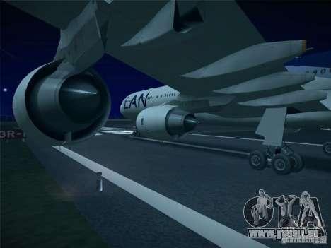 Airbus A340-600 LAN Airlines für GTA San Andreas rechten Ansicht