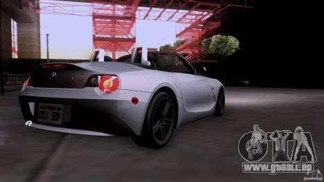 BMW Z4 V10 für GTA San Andreas Rückansicht