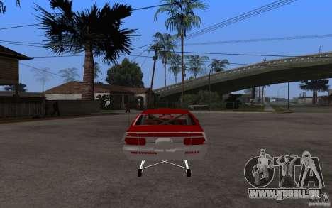 Chevrolet Impala 1995 pour GTA San Andreas sur la vue arrière gauche