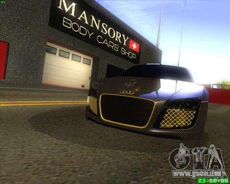 Audi R8 Mansory pour GTA San Andreas laissé vue