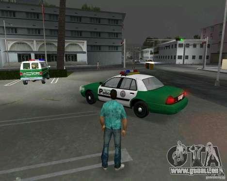 Ford Crown Victoria 2003 Police für GTA Vice City zurück linke Ansicht