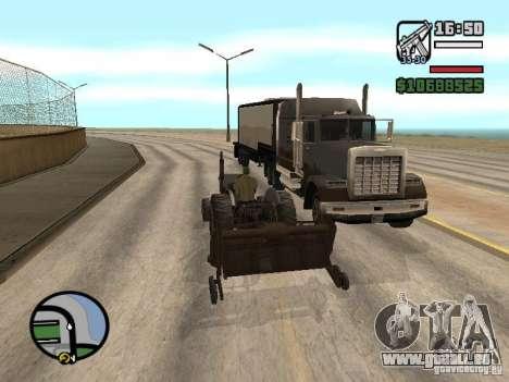 PKW mit Anhänger für GTA San Andreas fünften Screenshot