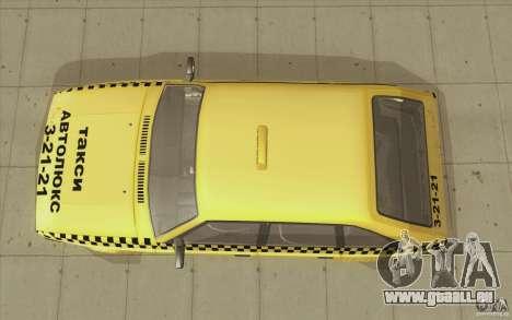 2141 Moskvitch AZLK Taxi v2 pour GTA San Andreas vue de droite