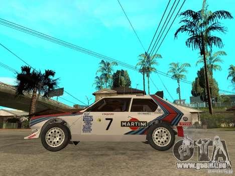 Lancia Delta S4 Martini Racing pour GTA San Andreas laissé vue