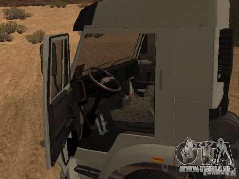 KAMAZ 6460 pour GTA San Andreas vue intérieure