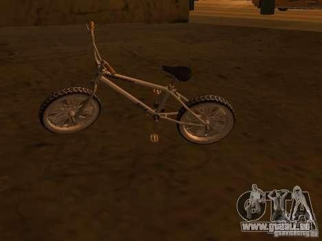 New Bmx pour GTA San Andreas sur la vue arrière gauche