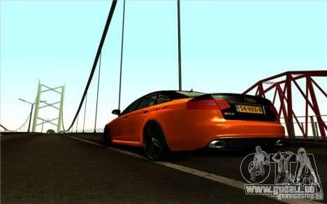 Audi RS6 Black Edition pour GTA San Andreas sur la vue arrière gauche