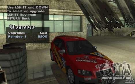 Audi S3 Tunable pour GTA San Andreas vue intérieure