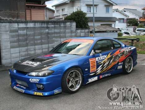 Nissan Silvia INGs +1 pour GTA San Andreas vue intérieure