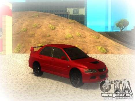 Mitsubishi Lancer Evolution IX MR 2006 pour GTA San Andreas