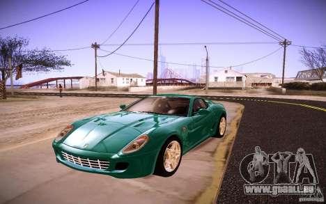 Ferrari 599 GTB Fiorano 2010 pour GTA San Andreas
