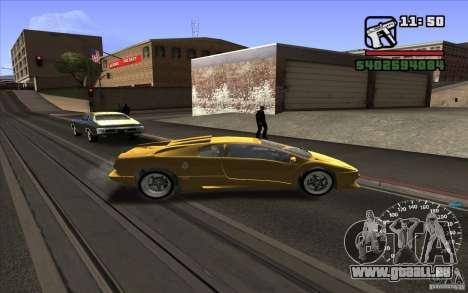 Lamborghini Diablo SV pour GTA San Andreas sur la vue arrière gauche