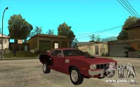 Plymouth Cuda 426 pour GTA San Andreas vue arrière