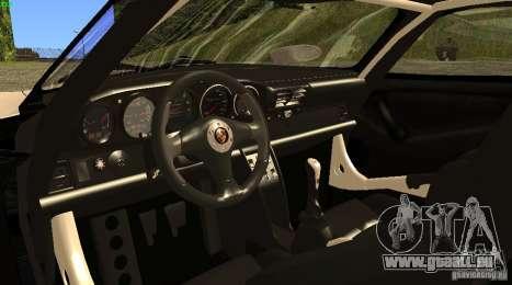 Porsche 911 GT1 Evolution Strassen Version 1997 pour GTA San Andreas sur la vue arrière gauche