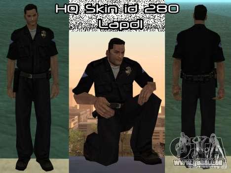 HQ skin lapd1 pour GTA San Andreas