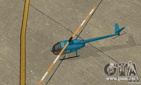 Robinson R44 Raven II-NC 1.0-TV für GTA San Andreas Rückansicht