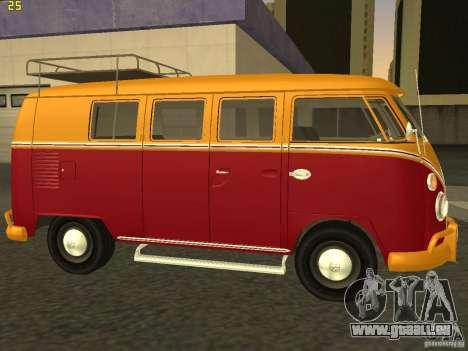Volkswagen Transporter T1 Camper für GTA San Andreas linke Ansicht