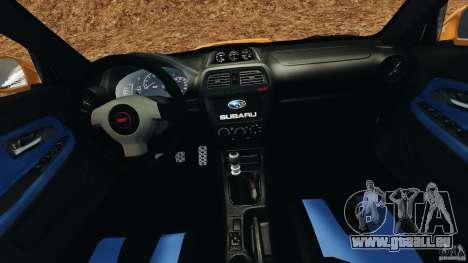Subaru Impreza WRX STI 2005 pour GTA 4 Vue arrière